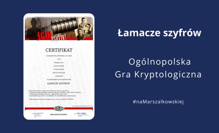 """Zdobyli tytuł """"Łamaczy Szyfrów""""!"""